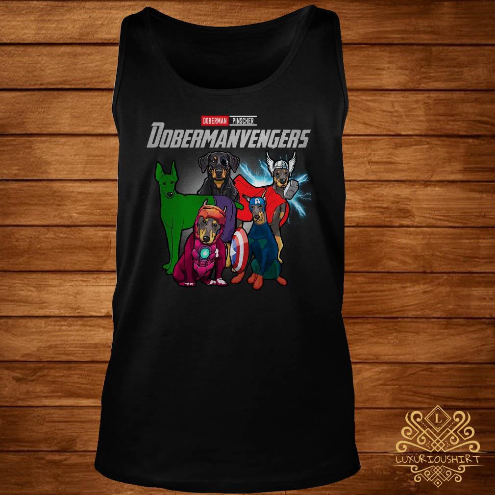 Marvel Avengers Doberman Pinscher Dobermanvengers tank-top