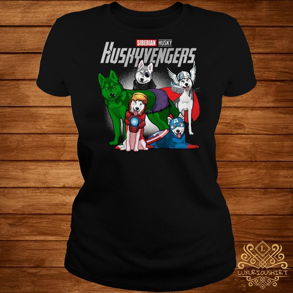 Marvel Siberian Husky Huskyvengers ladies tee