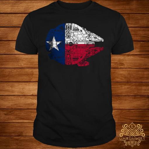 Millennium Falcon lone star falcon made the trip across Texas parsecs shirt