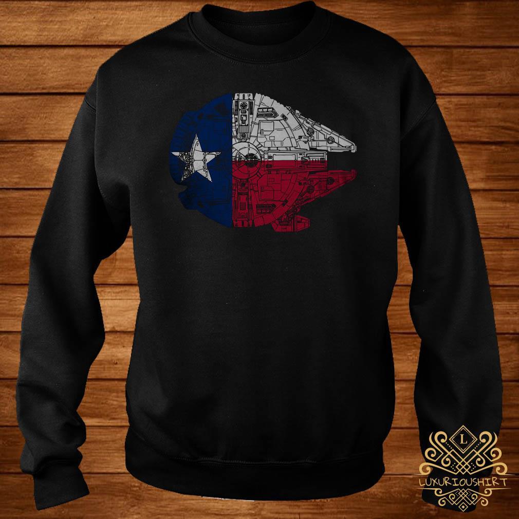 Millennium Falcon lone star falcon made the trip across Texas parsecs sweater