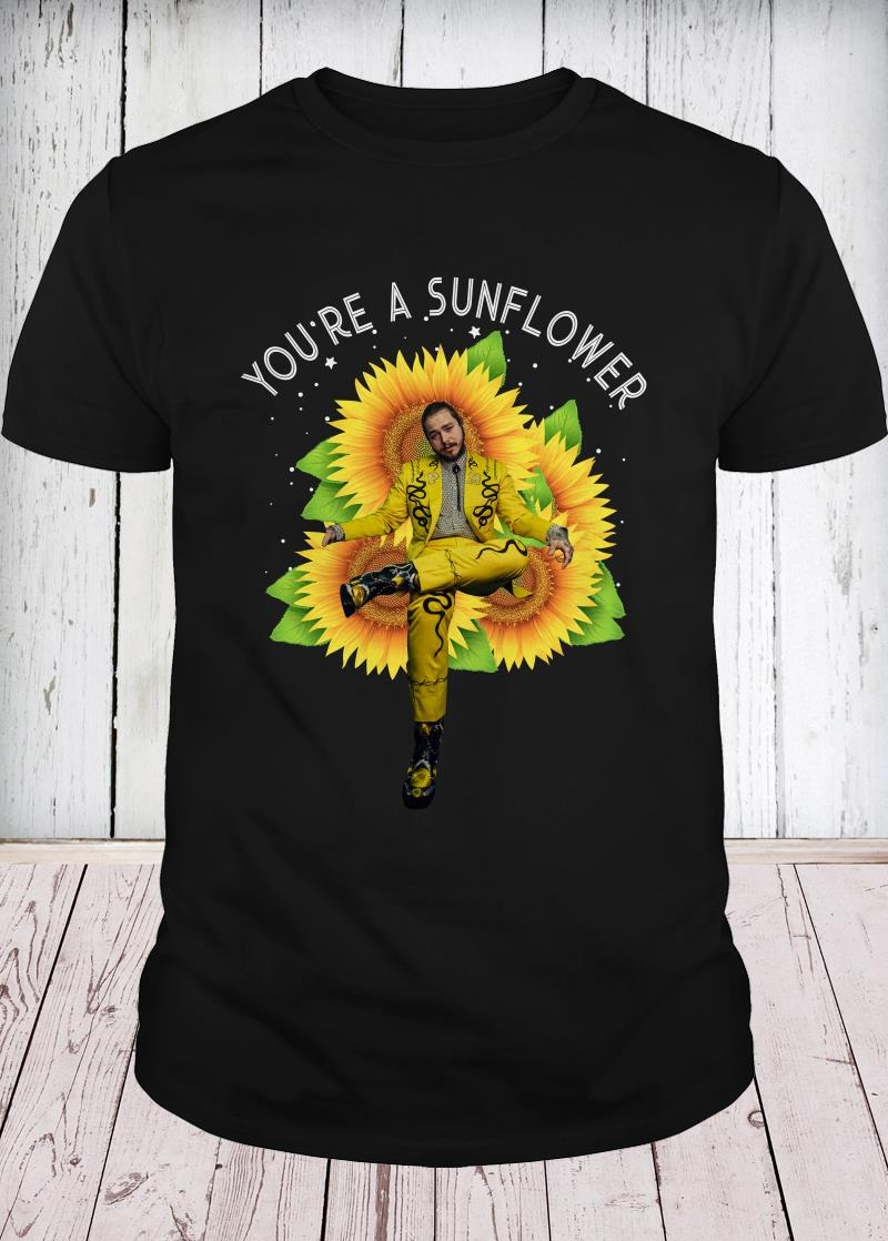 Post Malone you're a sunflower youth tee