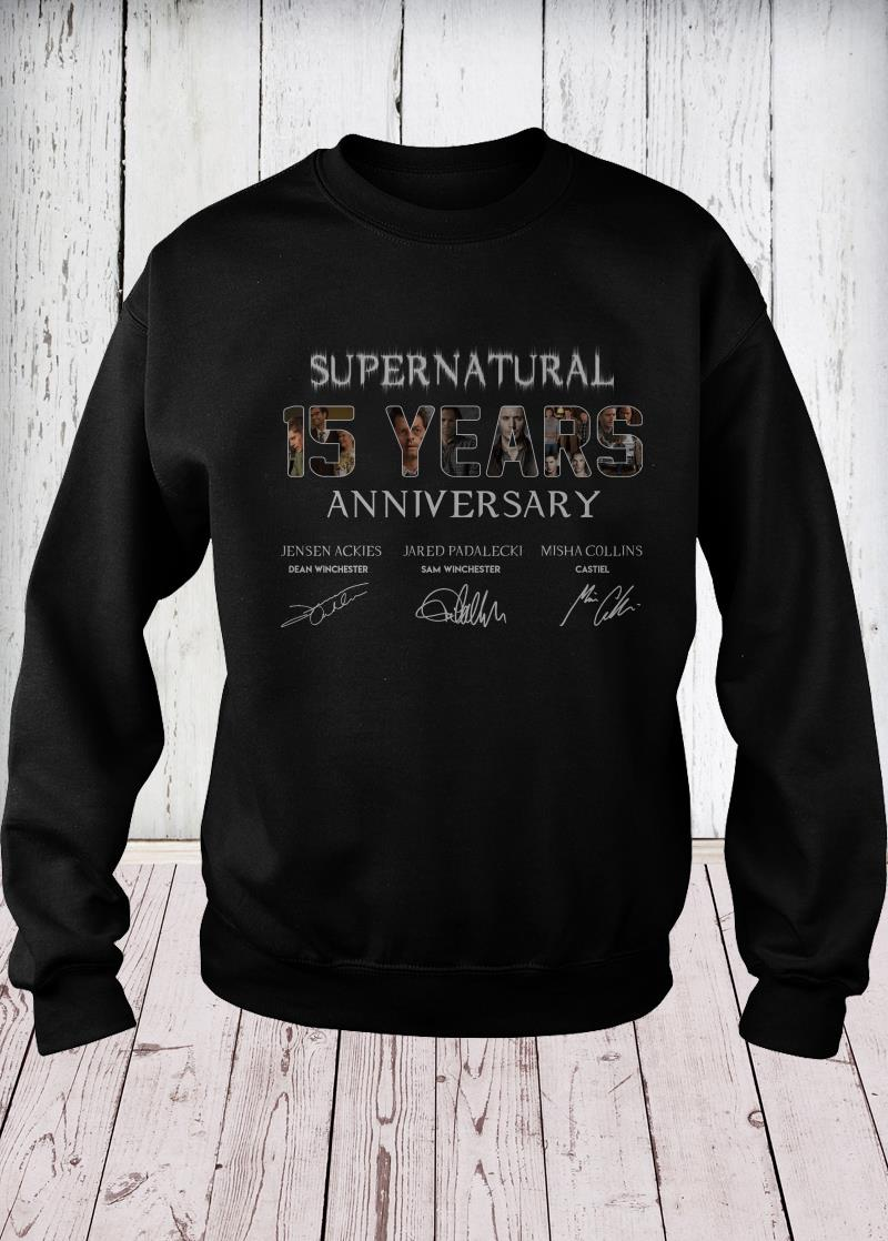 SuperNatural 15 years anniversary sweaterSuperNatural 15 years anniversary sweater