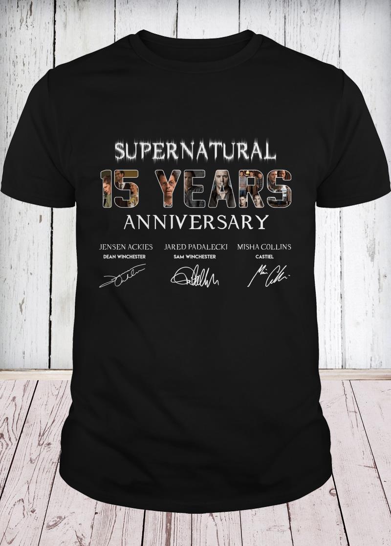 SuperNatural 15 years anniversary youth tee