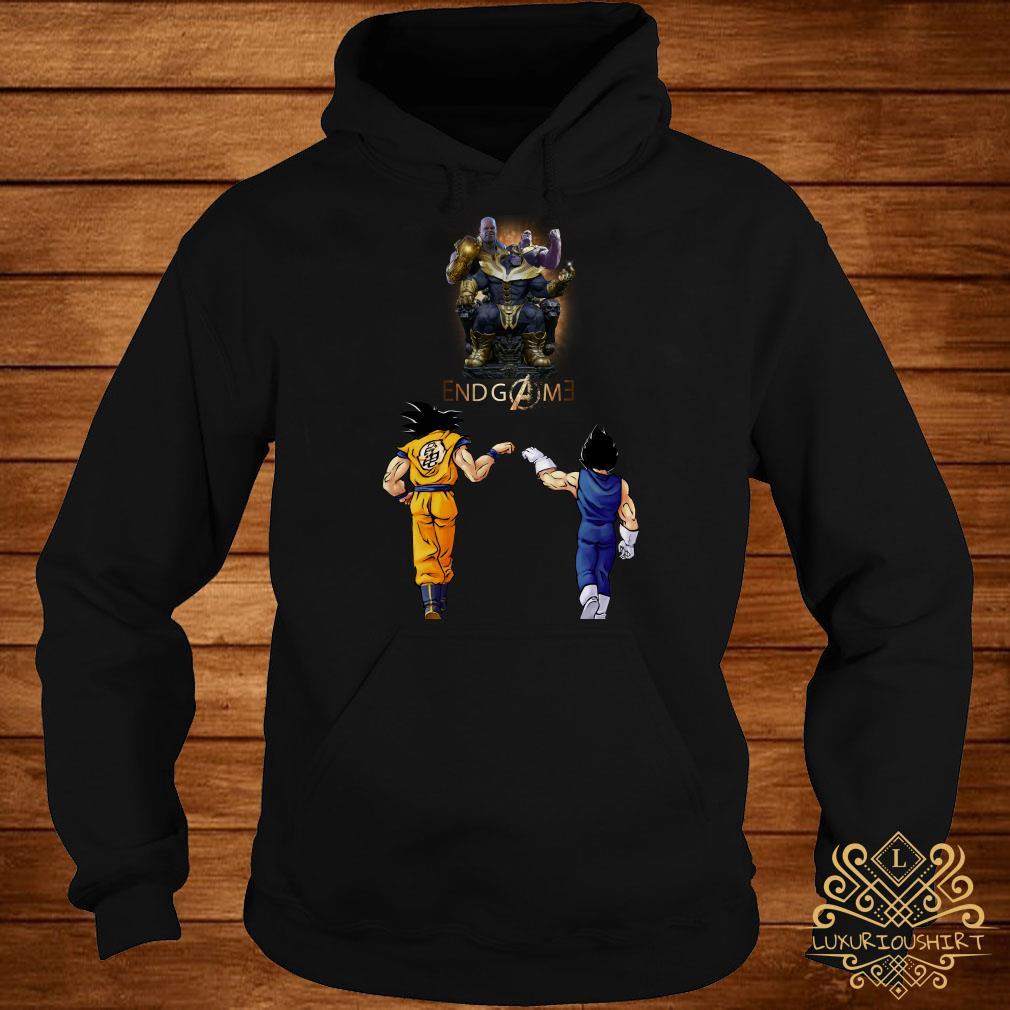 Thanos endgame Goku and Vegeta hoodie