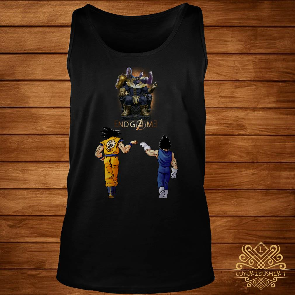 Thanos endgame Goku and Vegeta tank-top