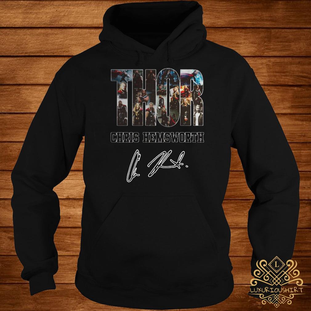 Thor Chris Hemsworth signature hoodie