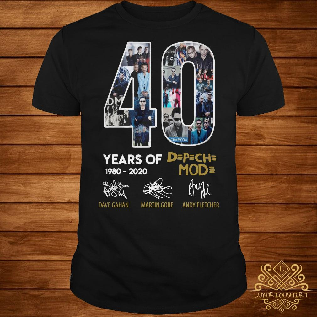Depeche Mode Us Tour Dates 2020 40 Year Of Depeche Mode 1980 2020 Shirt, sweater, hoodie and