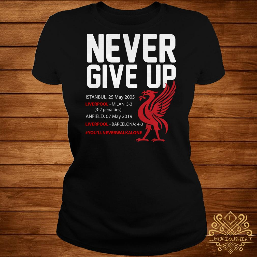 3896dde5acd Liverpool FC Never Give Up ladies tee