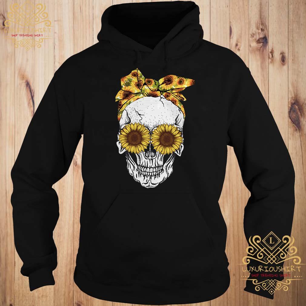 Skull sunflower hoodie