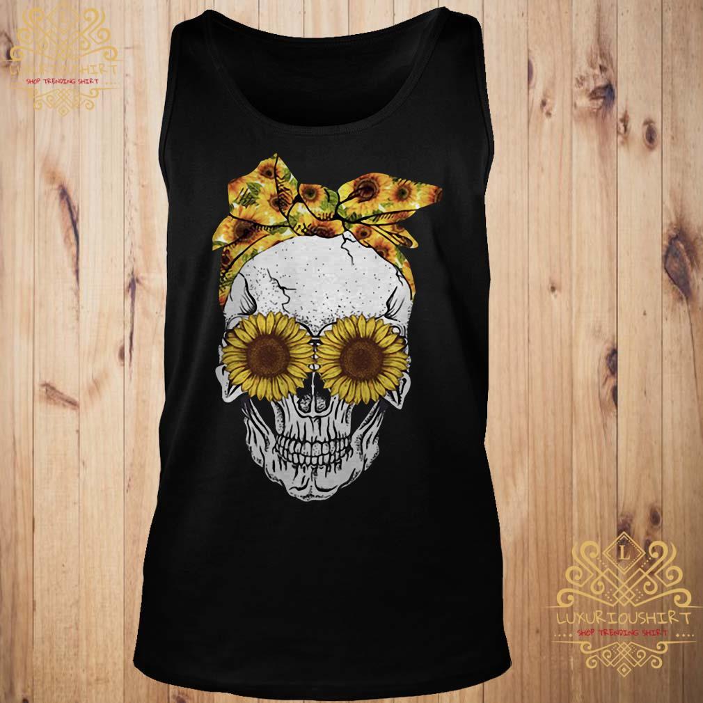 Skull sunflower tank-top