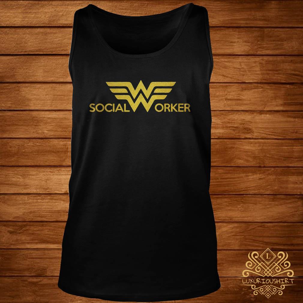 Social worker Wonder Woman logo tank-top