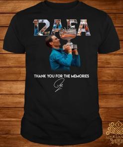 12 AFA Roland Garros thank you for the memories shirt