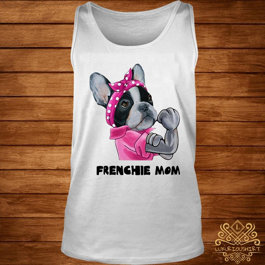 Bandana pink Frenchie mom strong mom tank-top