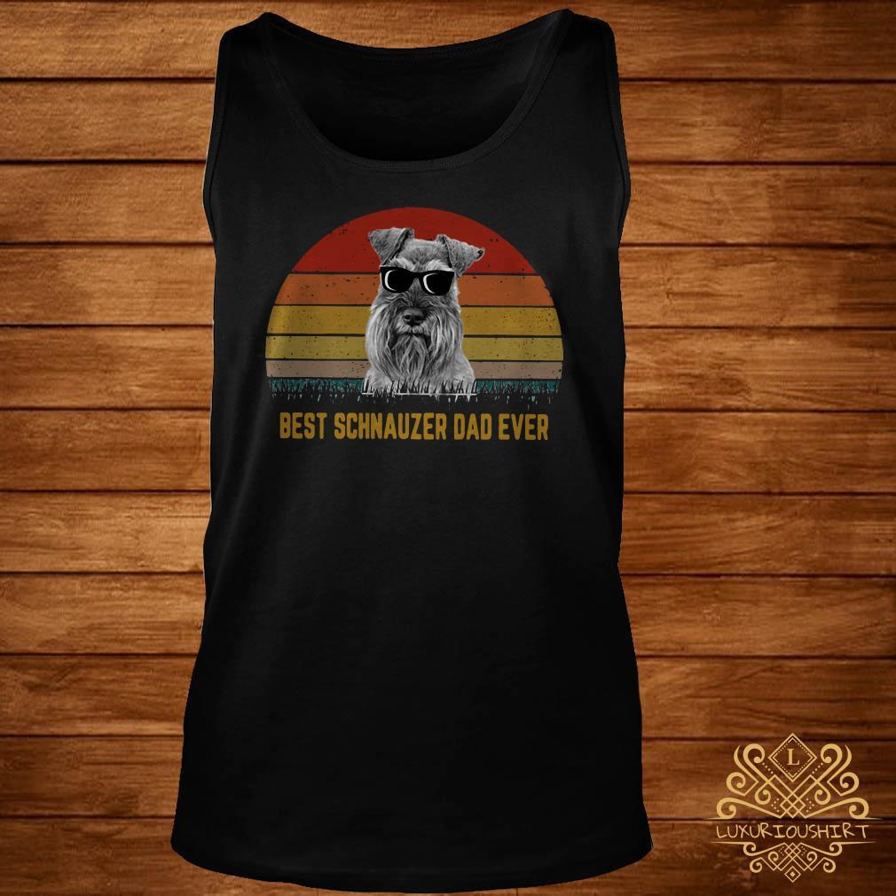 Best Schnauzer dad ever sunset tank-top