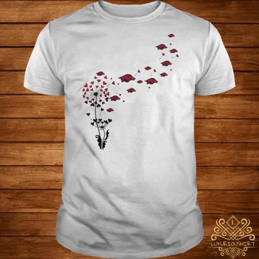 Dandelion heart flowers with boar petal shirt