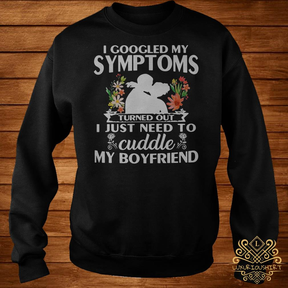 I googled my symptoms turned out I just need to cuddle my boyfriend sweater