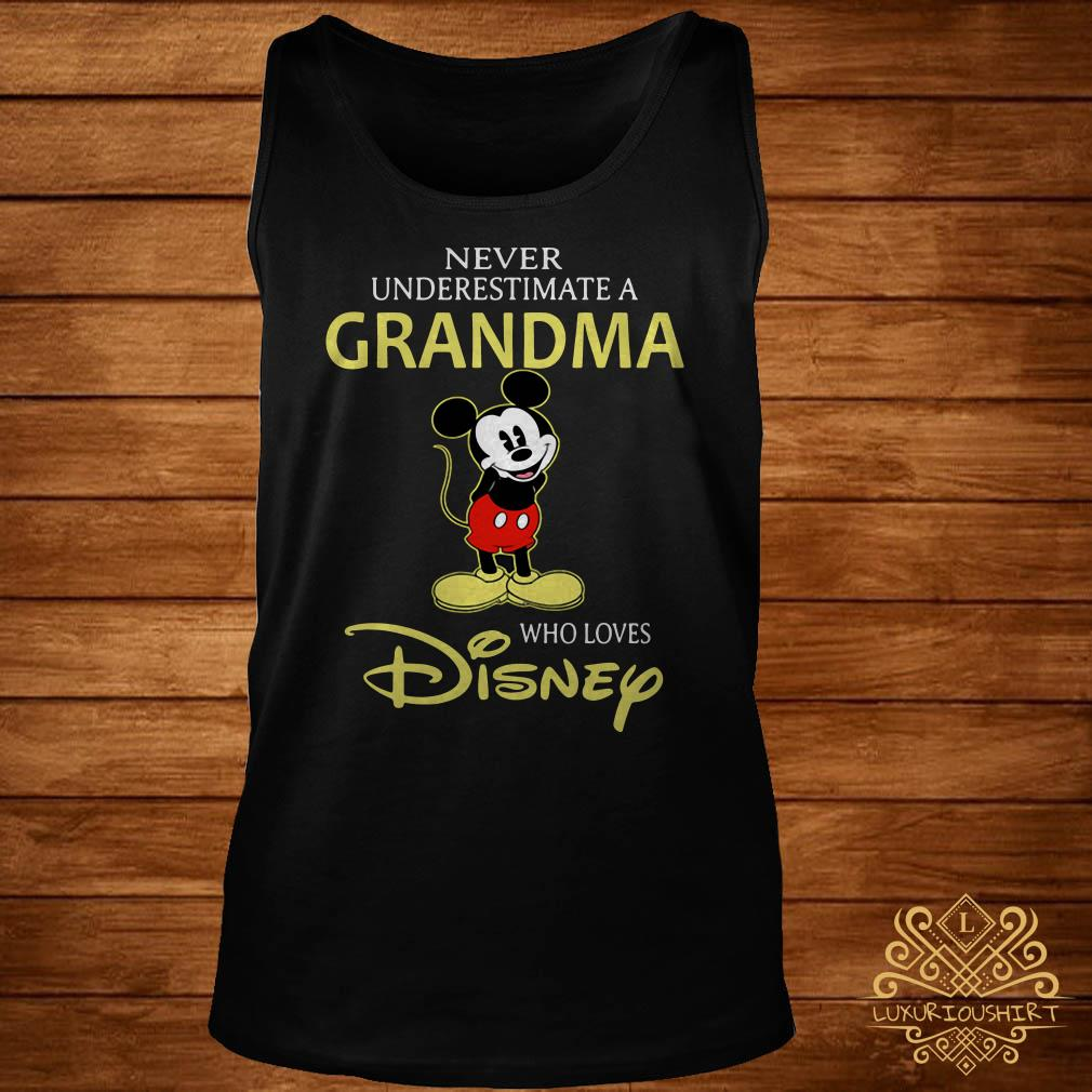 Mickey Mouse never underestimate a grandma who loves Disney tank-top