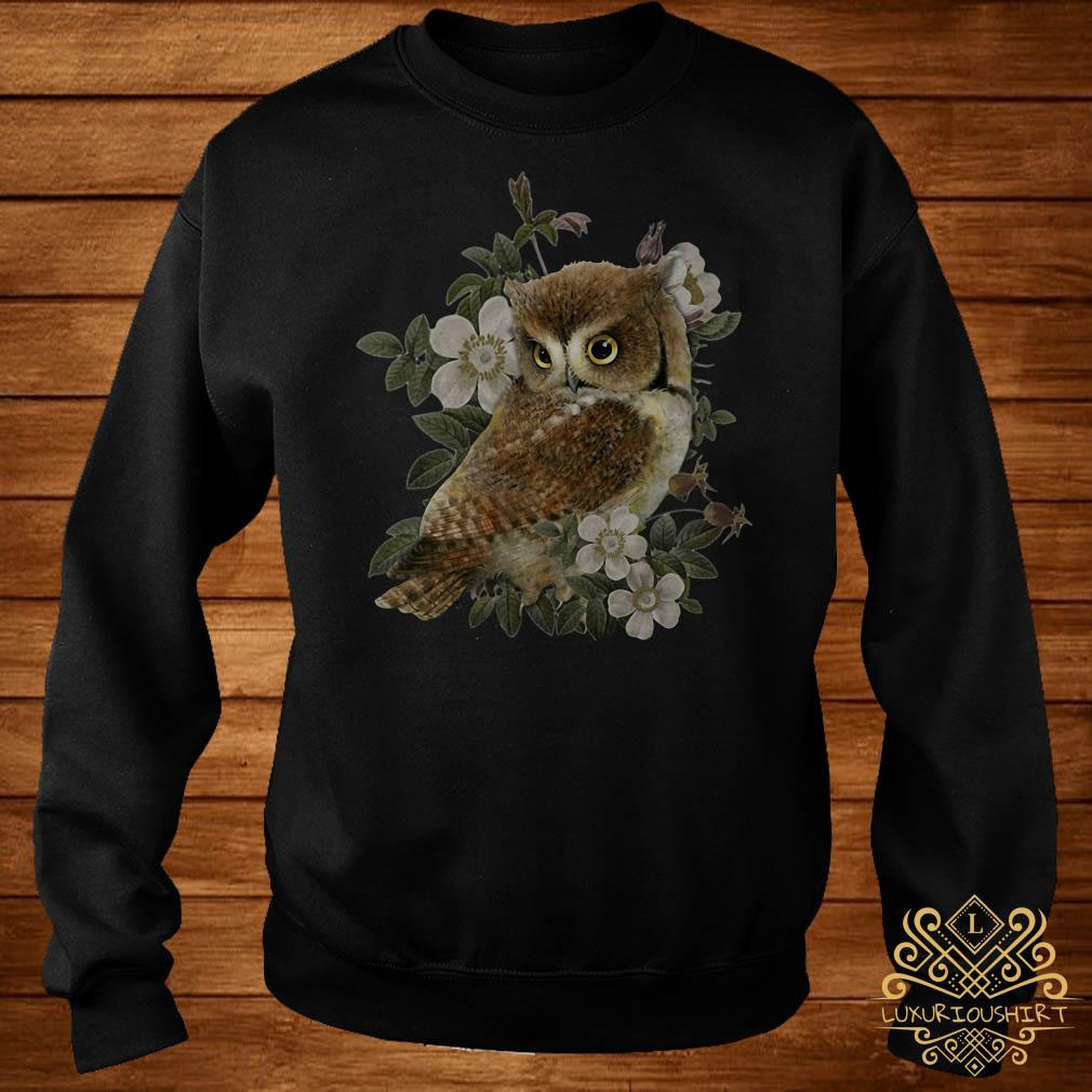 The Owl with flower sweater
