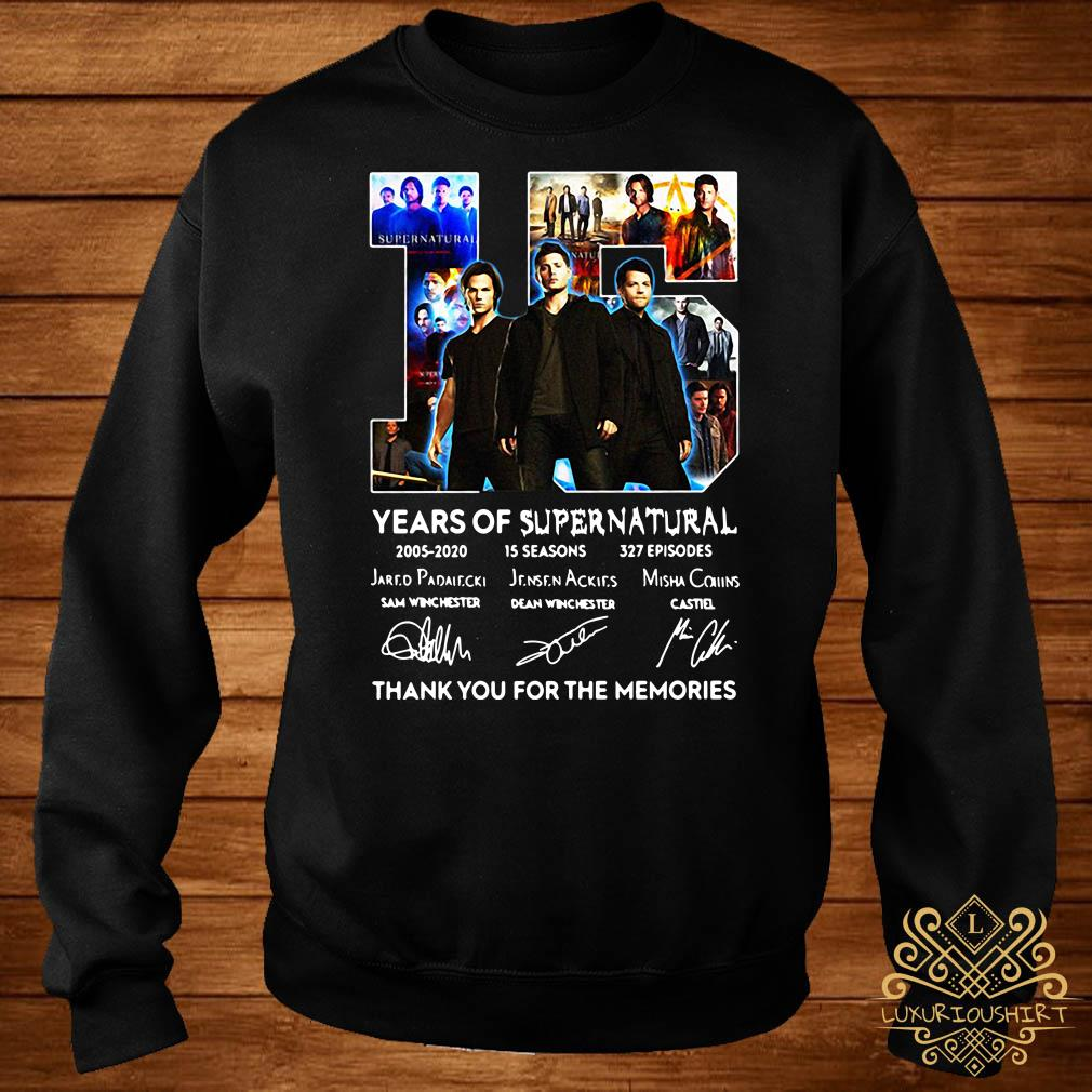 15 years of Supernatural thank you for the memories signatures sweater