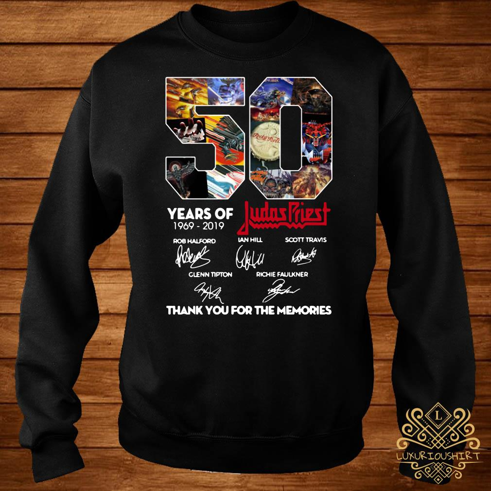 50 Years of Judas Priest 1969-2019 thank you for the memories signature sweater