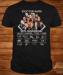 Doctor Who 56th anniversary 1963-2019 signature shirt