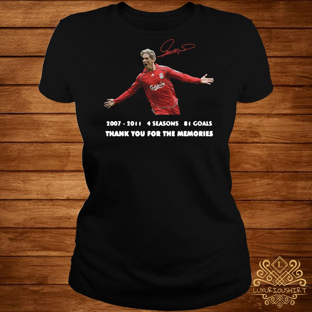 Fernando Torres thank you for the memories signature ladies tee