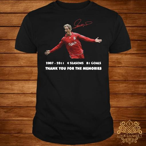 Fernando Torres thank you for the memories signature shirt