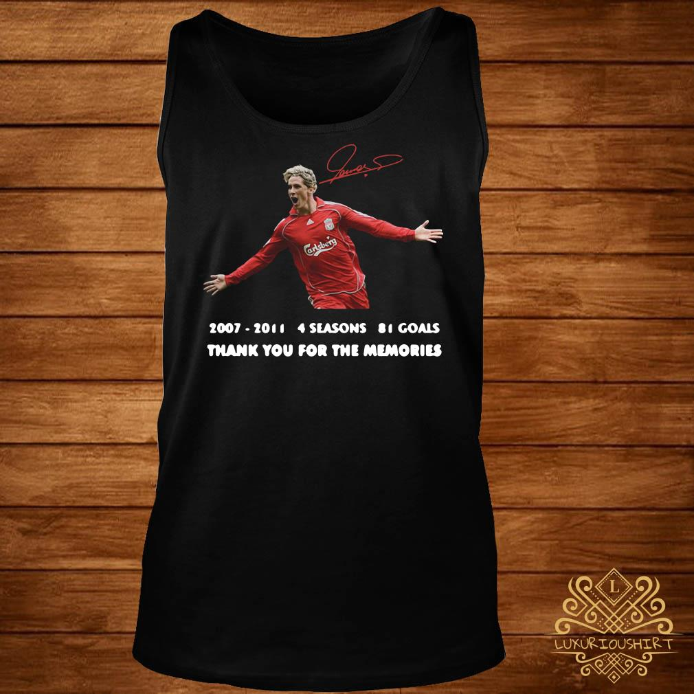 Fernando Torres thank you for the memories signature tank-top
