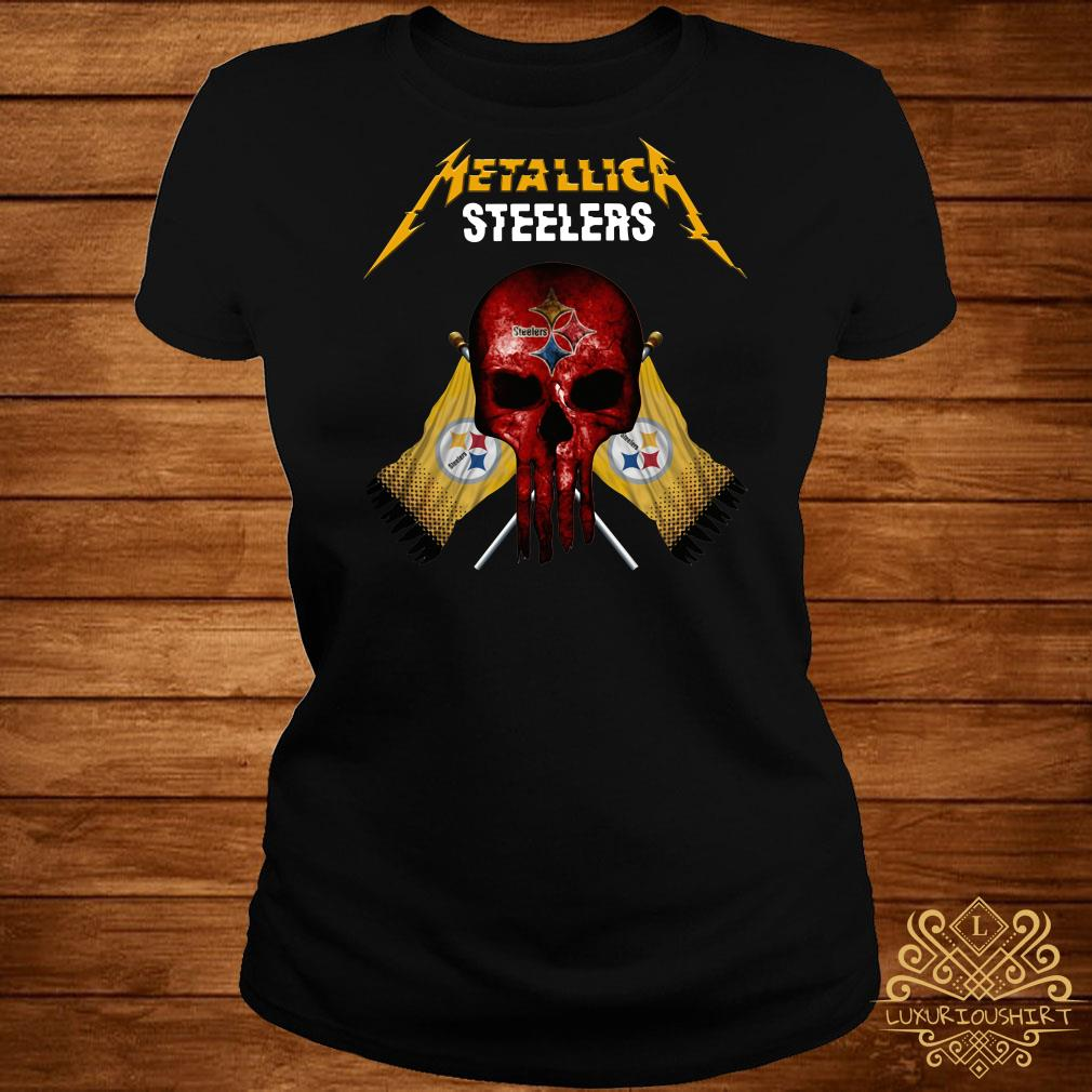 new styles 396f5 02686 Metallic Pittsburgh Steelers punisher shirt