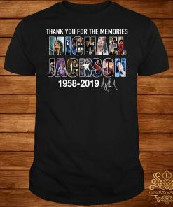 Thank you for the memories Michael Jackson 1985 2019 shirt