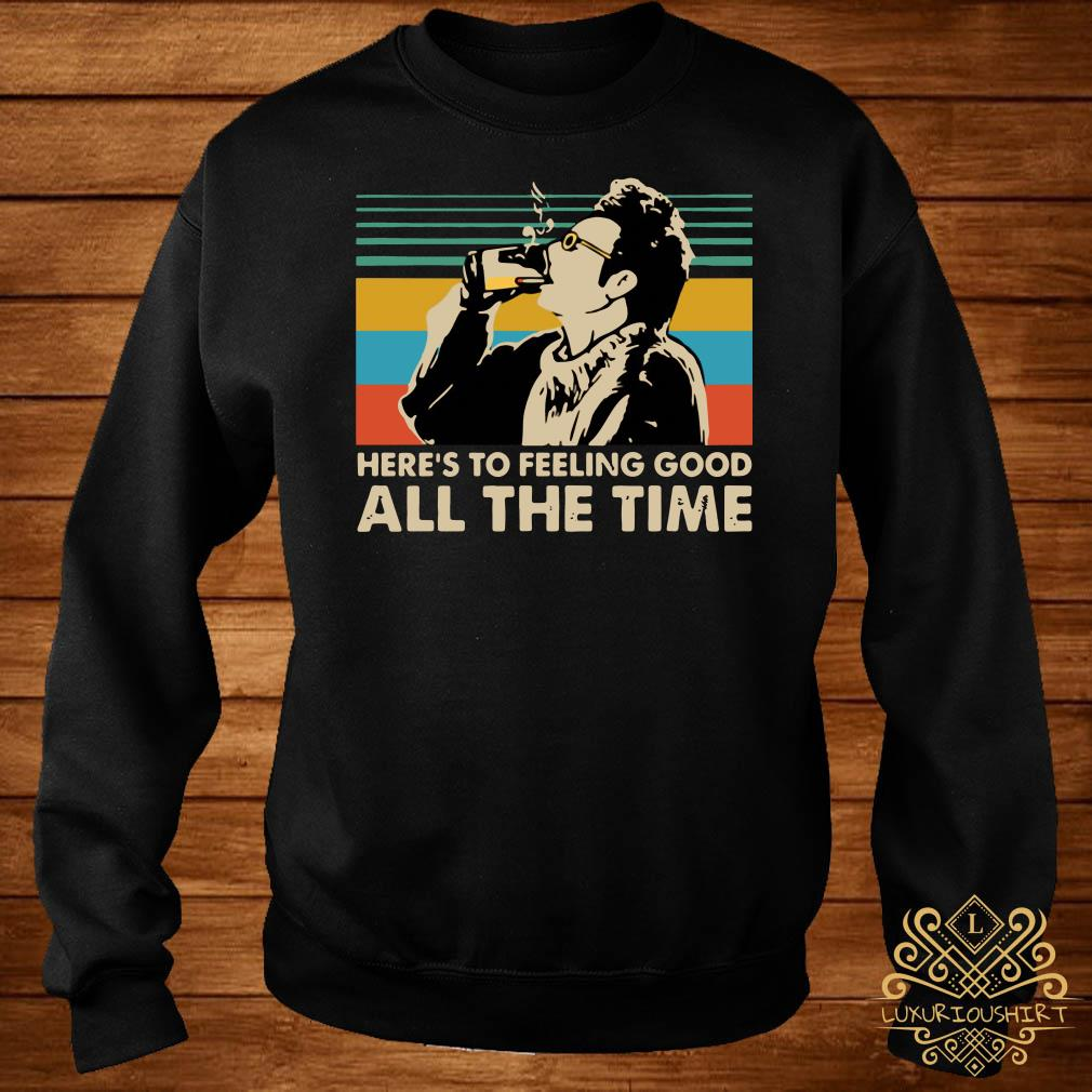 Vintage Kramer Seinfeld here's to feeling good all the time sweater