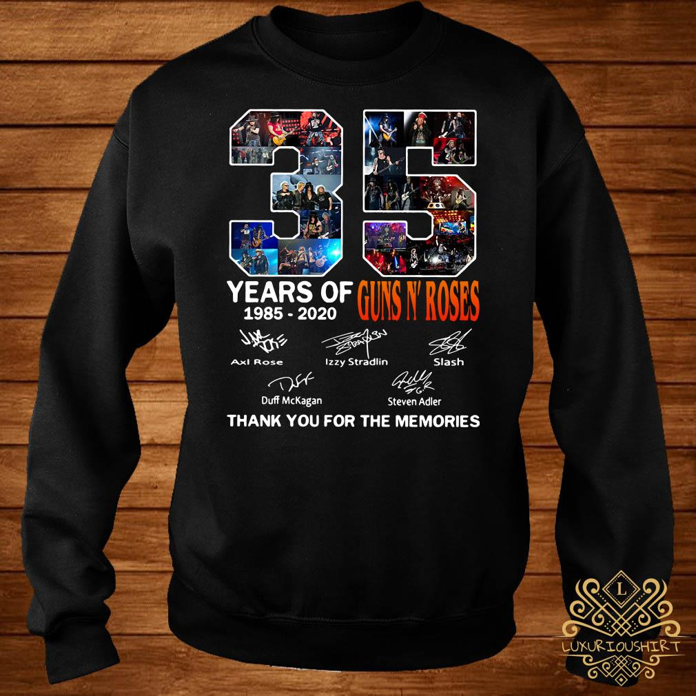 35 Year of Gun N' Roses thank you for the memories sweater