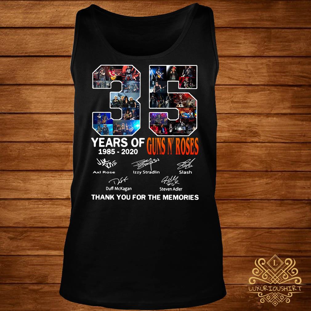 35 Year of Gun N' Roses thank you for the memories tank-top