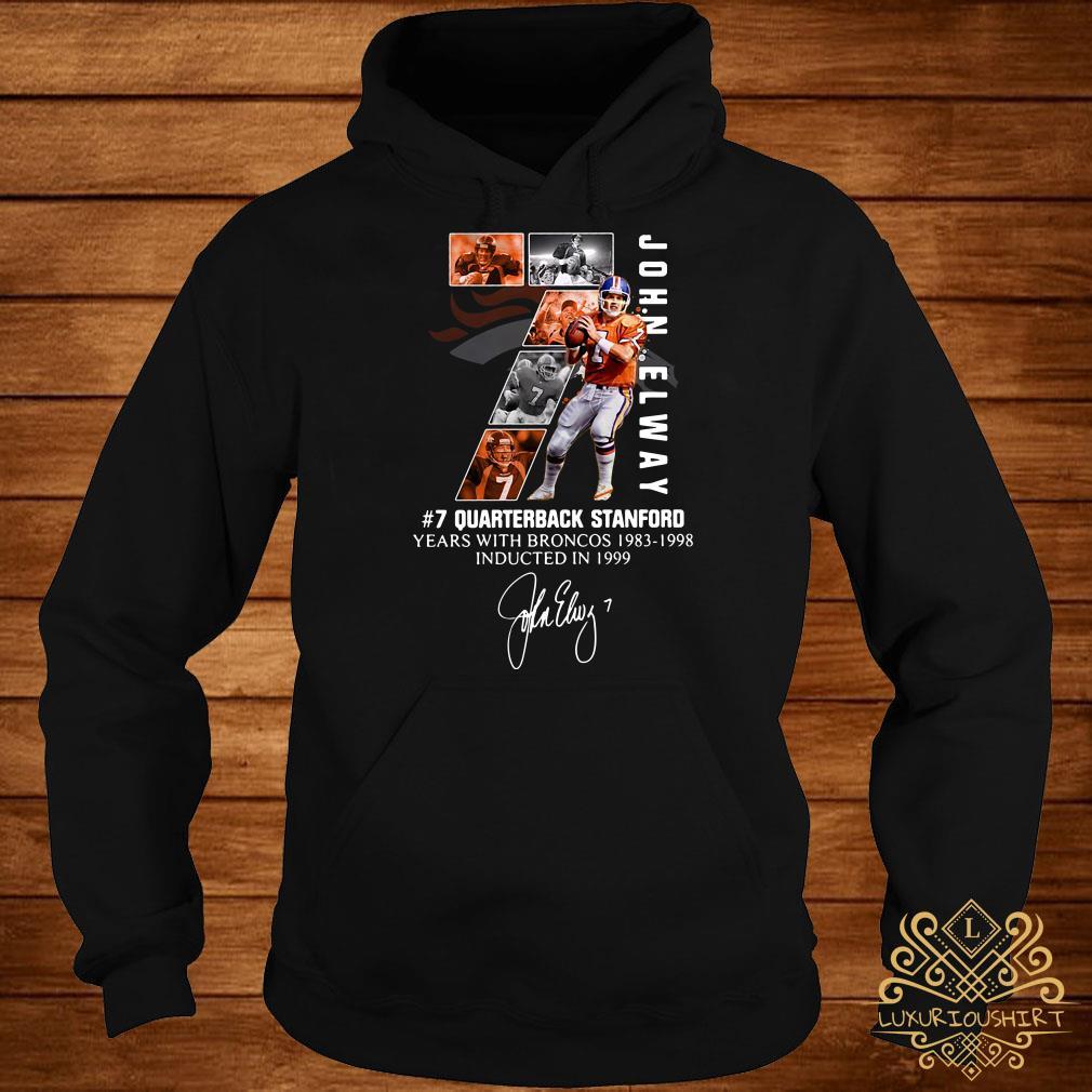 7 John Elway Quarterback Stanford years with Broncos 1983-1998-Recovered hoodie