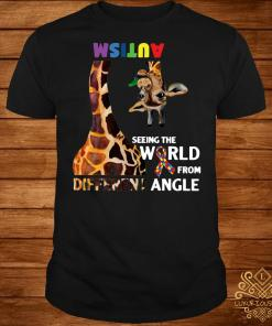 Autism seeing the world from different angle shirt