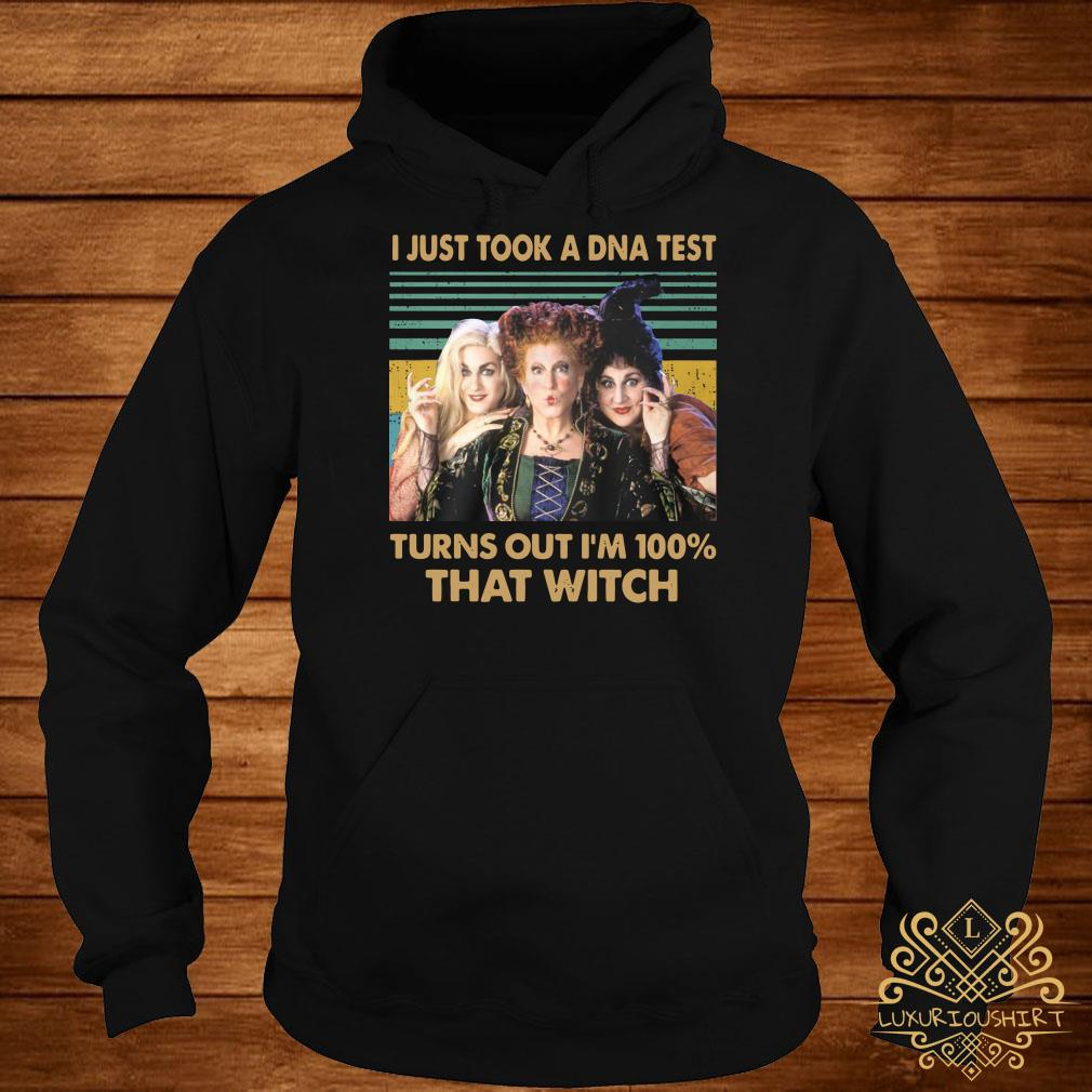 Hocus pocus I just took a DNA test turns out I'm 100% that witch vintage hoodie