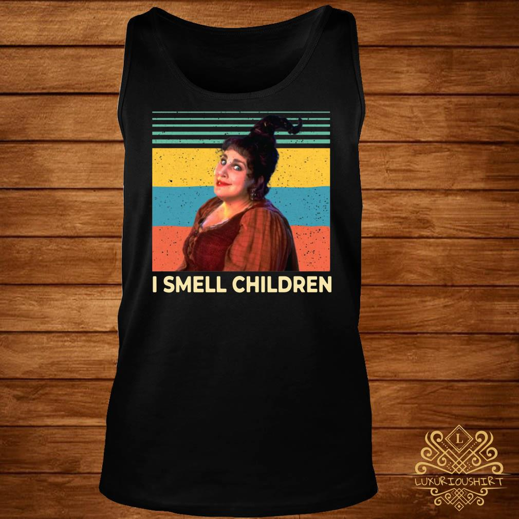 Hocus Pocus Witches I smell children vintage tank-top