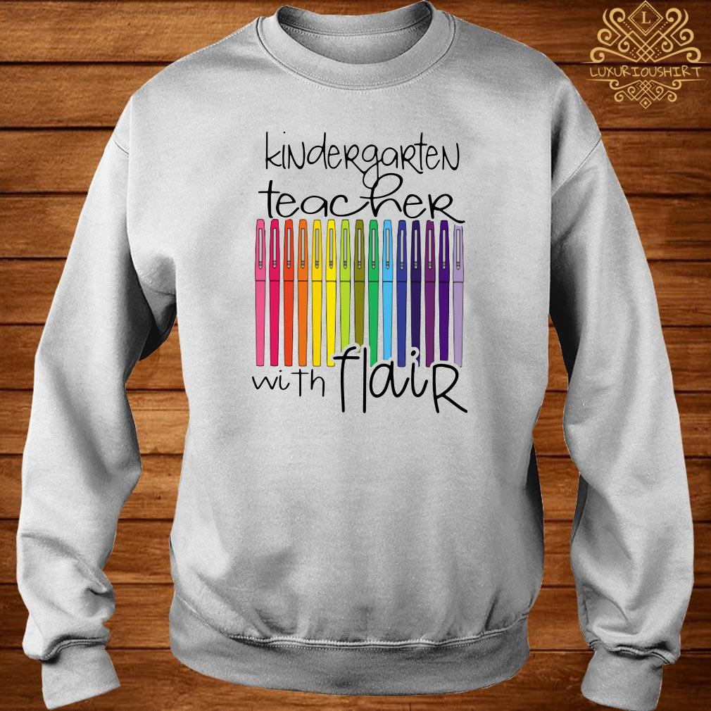 Kindergarten teacher with flair sweater
