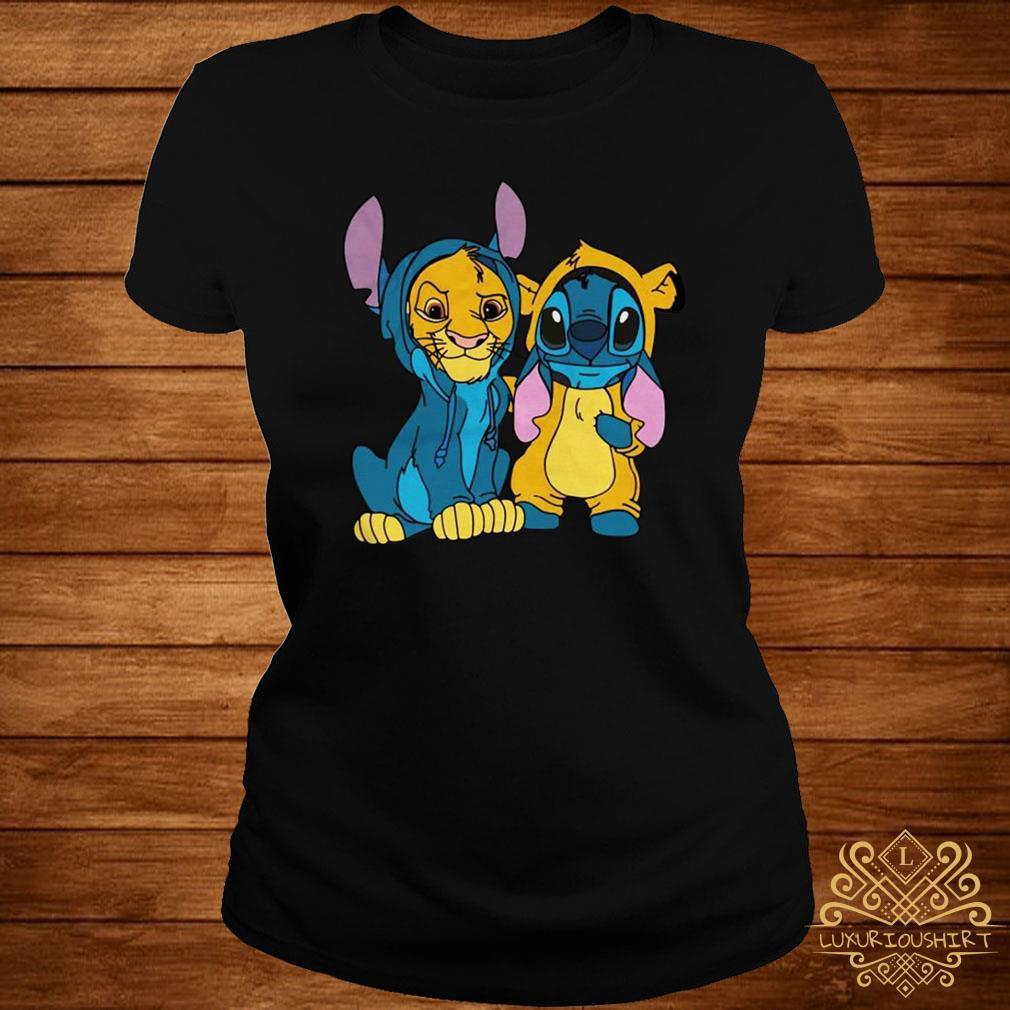 The Lion King Simba and Stitch Is Best Friend ladies tee