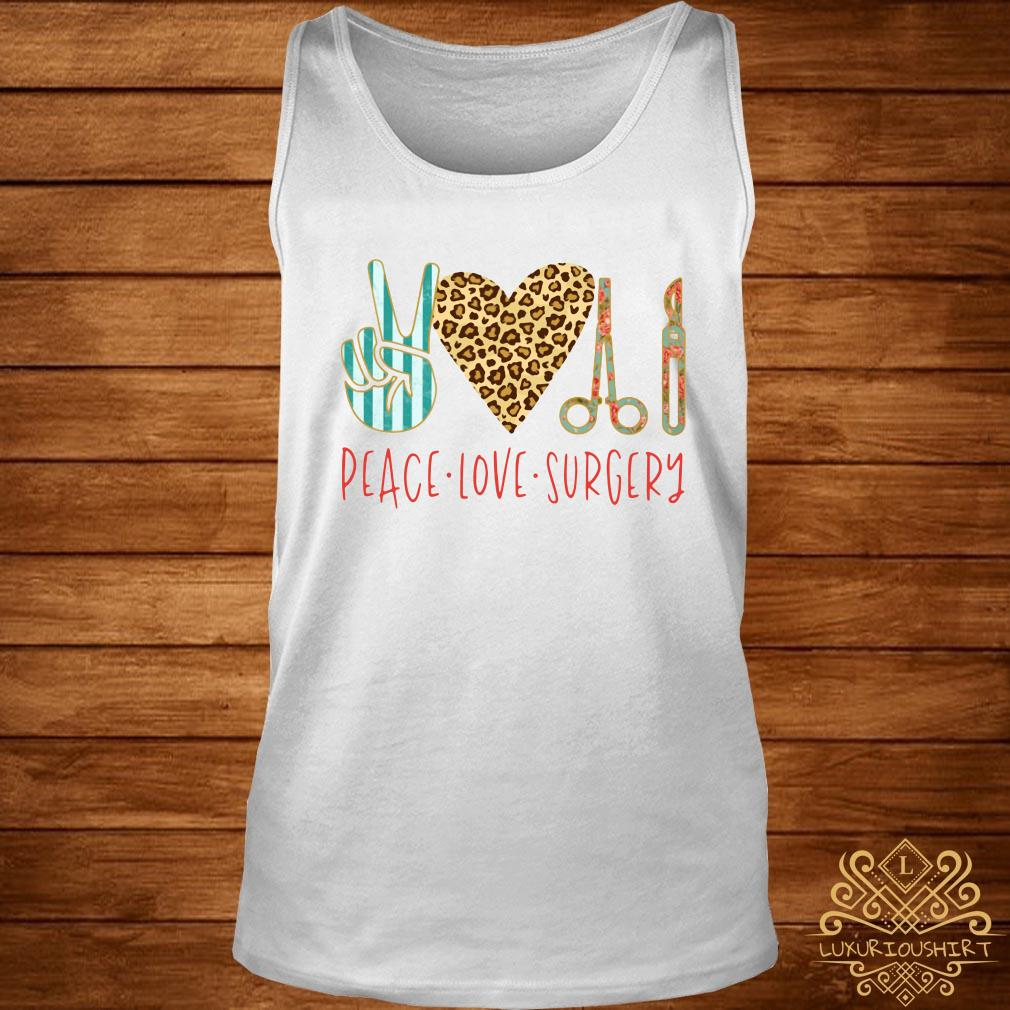 Peace love hair styling tank-top
