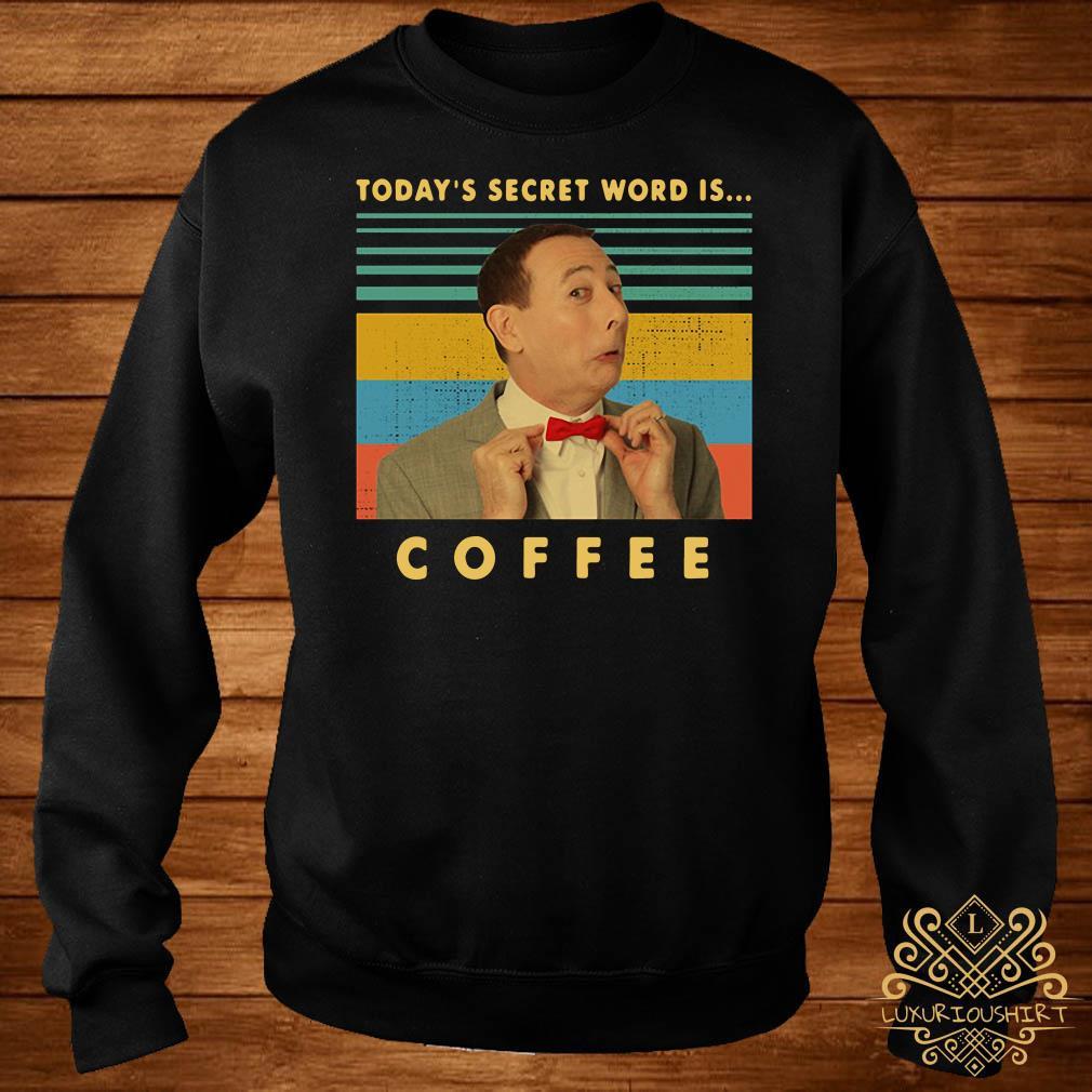 Pee-Wee Herman Today's secret word is coffee vintage sweater