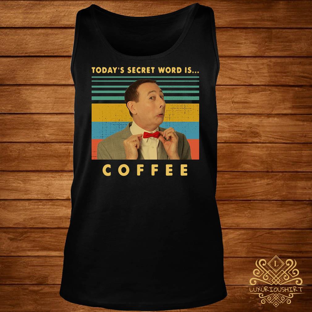Pee-Wee Herman Today's secret word is coffee vintage hoodie