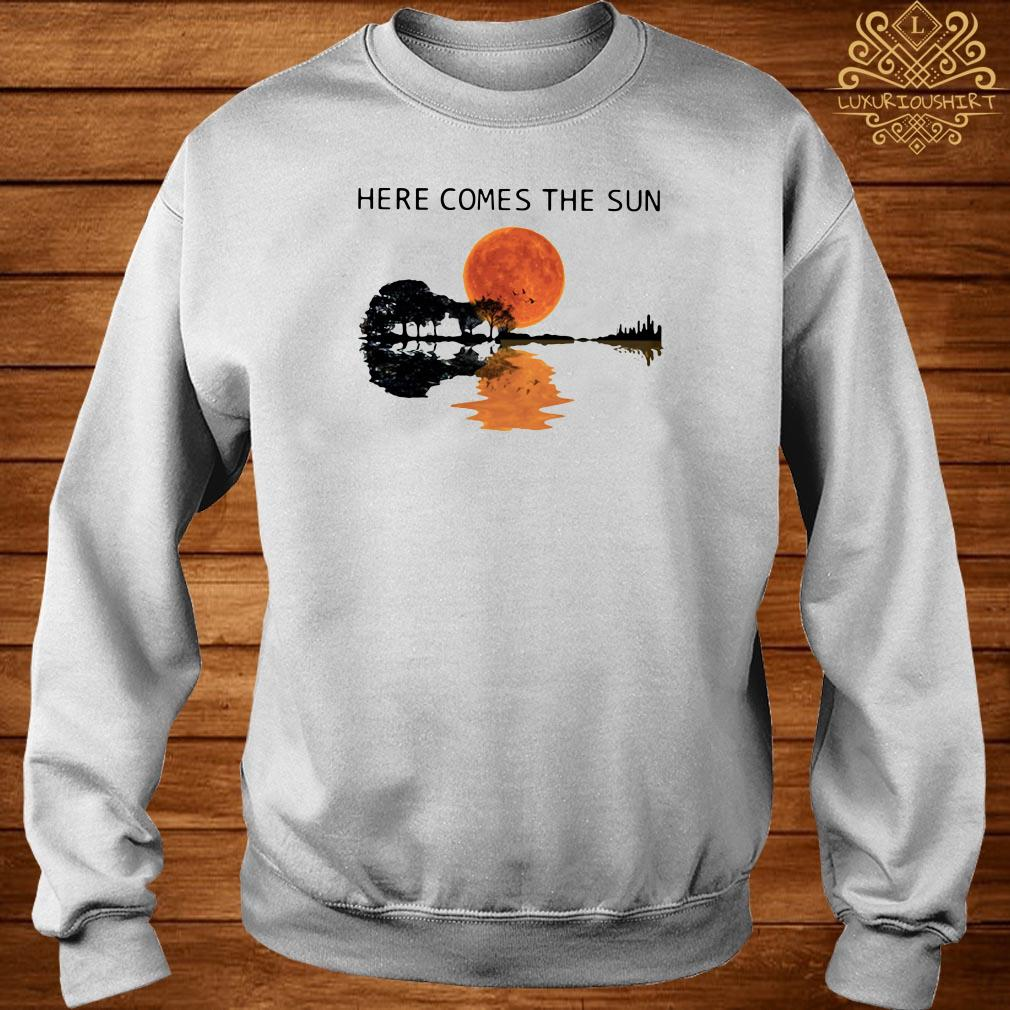 Sunset Guitar lake Here comes the sun sweater
