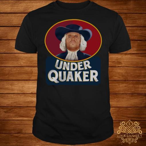 Under Quaker shirt