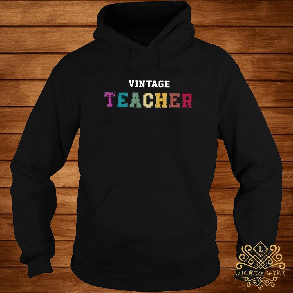 Vintage teacher hoodie