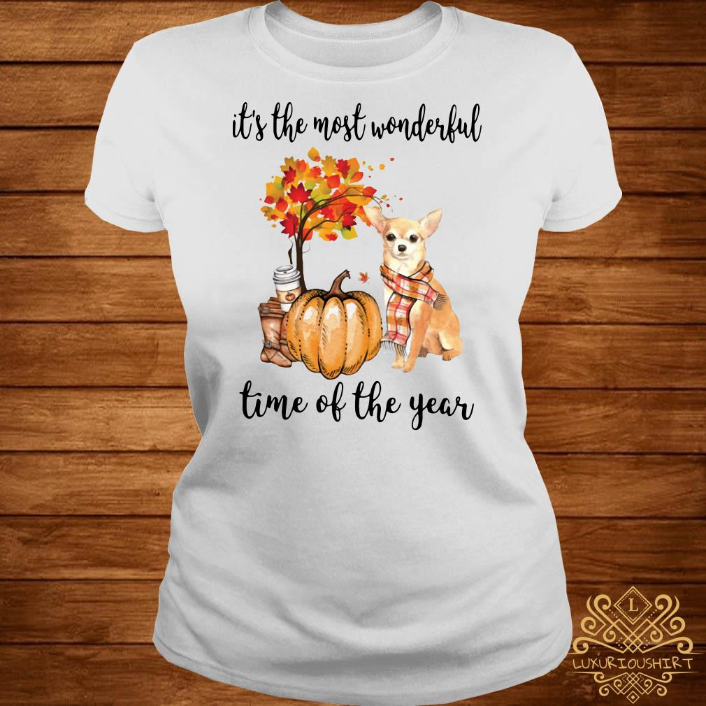 Chihuahua it's the most wonderful time of the year ladies tee