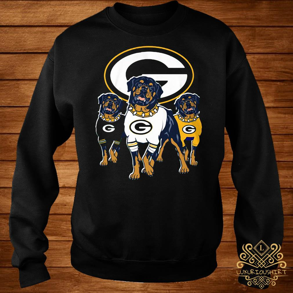 Green Bay Packers Rottweiler dog sweater