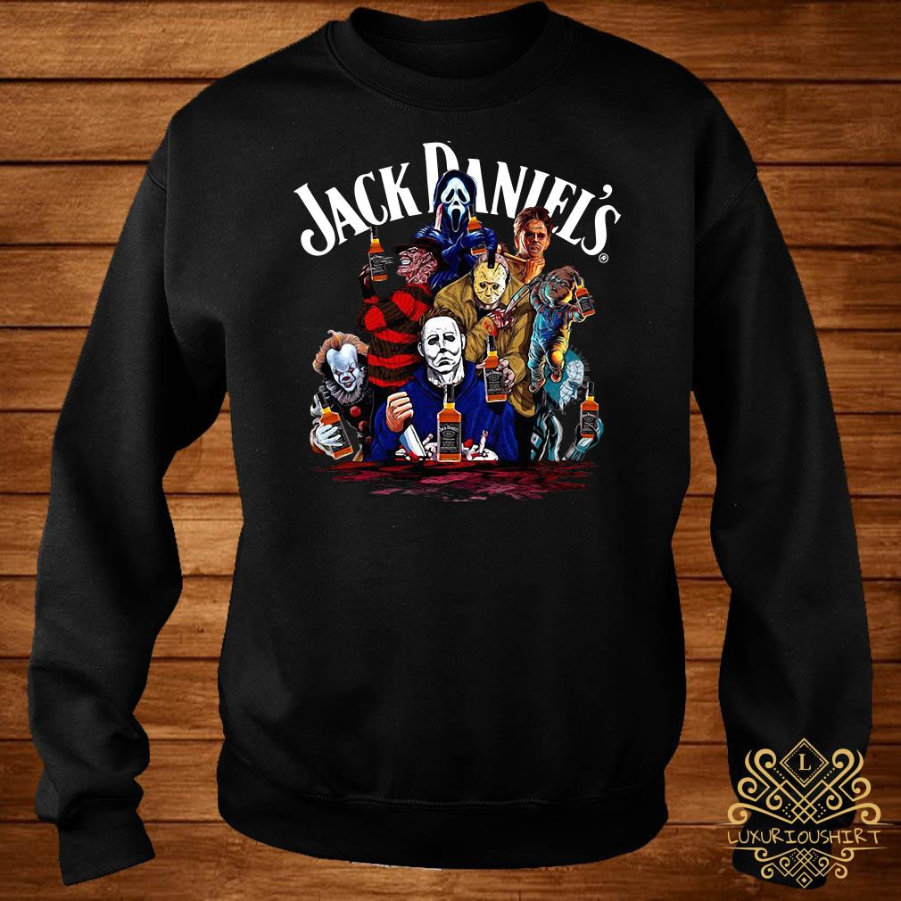 Horror character Jack Daniels whiskey sweater