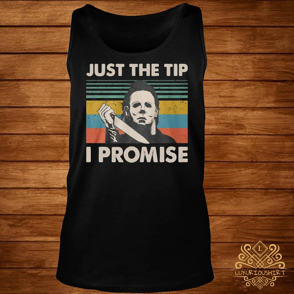 Michael Myers just the tip I promise vintage tank-top