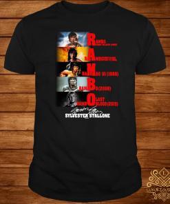Rambo 1962 2019 Sylvester Stallone signature shirt
